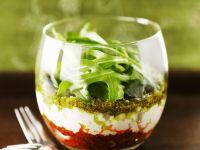 Tomaten- und Basilikumpesto mit Ricotta Rezept