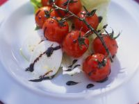 Tomaten und Mozzarella