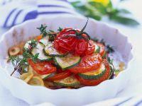 Tomaten-Zucchini-Auflauf mit Knoblauch Rezept