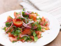 Tomaten-Zwiebelsalat Rezept