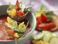Tomatenfondue mit Zutaten Rezept