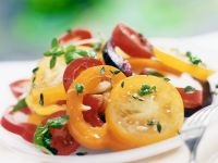 Tomatensalat mit Paprika Rezept