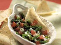 Tomatensalsa mit grünem Spargel Rezept