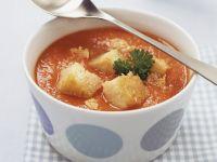 Tomatensuppe mit Croutons Rezept