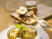 Topfenpalatschinken und mit Apfel Rezept