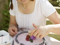Torte mit Heidelbeeren