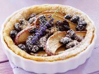 Tortelett mit Apfel, Sultaninen und Lavendel Rezept