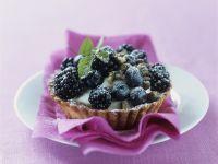 Tortelett mit schwarzen Beeren Rezept
