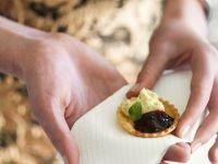 Tortelette mit Blauschimmelkäse und Konfitüre