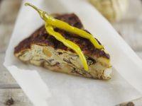 Tortilla mit Gemüse und Feta Rezept