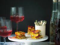 Tortilla mit Kartoffeln und spanischer Wurst