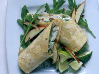 Tortillas mit Pilzen, Äpfeln und Rucola Rezept