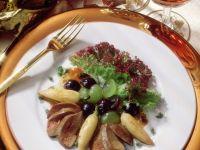 Traubensalat mit Rübchen und Gänseleber Rezept