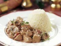Truthahn-Gulasch mit Reis Rezept