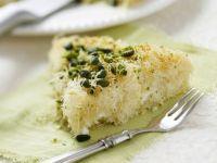 Türkischer Engelshaar-Kuchen mit Pistazien und Frischkäse