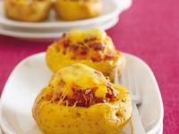 Überbacke Kartoffeln mit Füllung Rezept