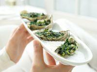 Überbackene Austern à la Rockefeller Rezept
