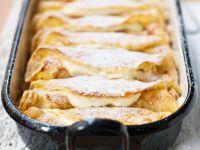 Überbackene Pfannkuchen mit Topfenfüllung Rezept