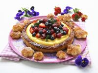 Vanille-Beeren-Kuchen aus Blätterteig Rezept