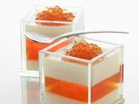 Vanillecreme und Orangenkaviar aus der Molekularküche Rezept