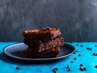 Vegane Brownies mit schwarzen Bohnen Rezept