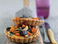Vegane Gemüsetarte mit Möhren und Auberginen Rezept