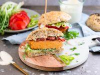 Vegane Süßkartoffel-Burger Rezept