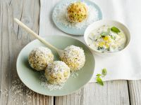 Vegane Weizen-Kokosklößchen Rezept