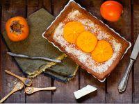 Veganer Kaki-Kuchen mit Chia-Samen Rezept