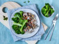 Veganes Pilzragout mit Brokkoli Rezept
