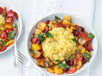 Veganes Risotto mit Paprikagemüse Rezept