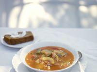 Vegetarische Gemüsesuppe mit Kürbis Rezept