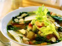 Vegetarische Minestrone mit Mandelpesto Rezept