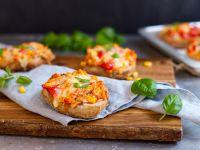 Vegetarische Pizzabrötchen Rezept