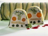 Vegetarische Terrine mit Champignoncreme Rezept