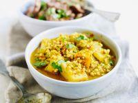 Vegetarisches Curry mit Kartoffeln und Gerste Rezept
