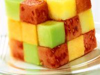 Verschiedene Melonenwürfel