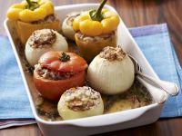Verschiedenes Gemüse mit Füllung Rezept