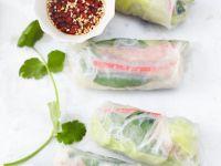 Vietnamesische Enten-Reispapierröllchen