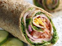 Vollkorn-Wraps mit Schinken und Gemüse Rezept