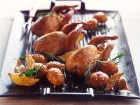 Wachteln mit Rosmarin und Kartoffeln aus dem Ofen Rezept