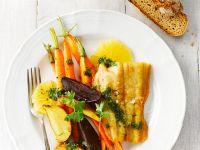 Waller mit Gemüse und Petersilienpesto Rezept