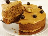 Walnuss-Kaffeecreme-Kuchen Rezept