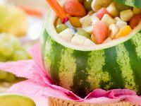 Wassermelone mit Obstsalat Rezept