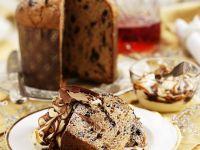 Weihnachtlicher Panettone mit Vanille- und Schokocreme Rezept