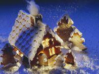 Weihnachtliches Lebkuchenhaus Rezept