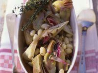 Weiße Bohnen mit Artischocken Rezept