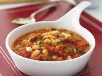 Weiße Bohnen mit Tomatensauce Rezept