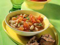 Weiße Bohnensuppe mit Leberwurst-Crostini Rezept