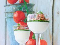 Weiße Tomatencreme mit Shrimps Rezept